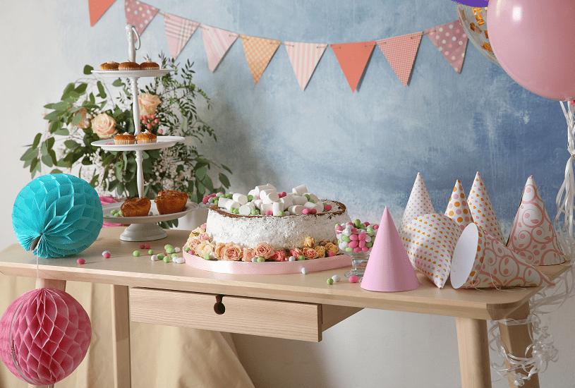 Ideias de decoração de mesa de aniversário