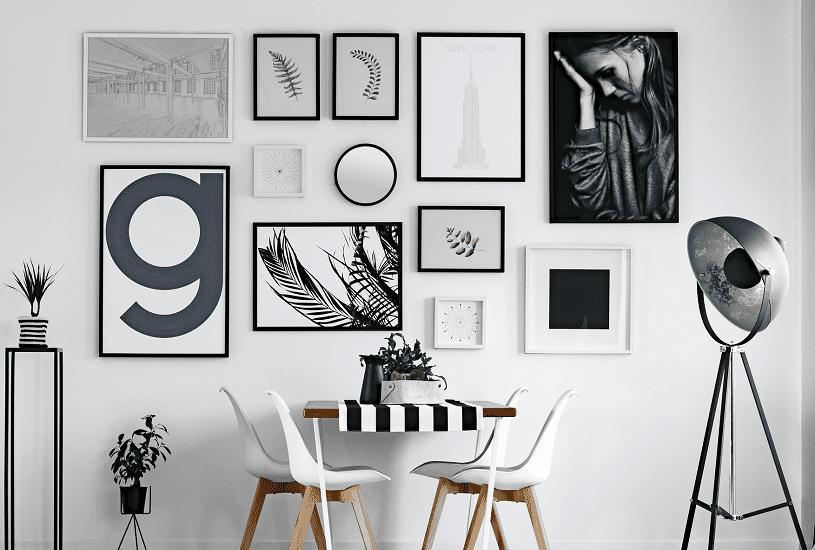 6 jeitos de usar um porta-retrato de parede