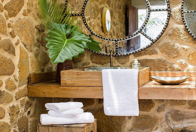 Combine a toalha de lavabo com o resto do décor