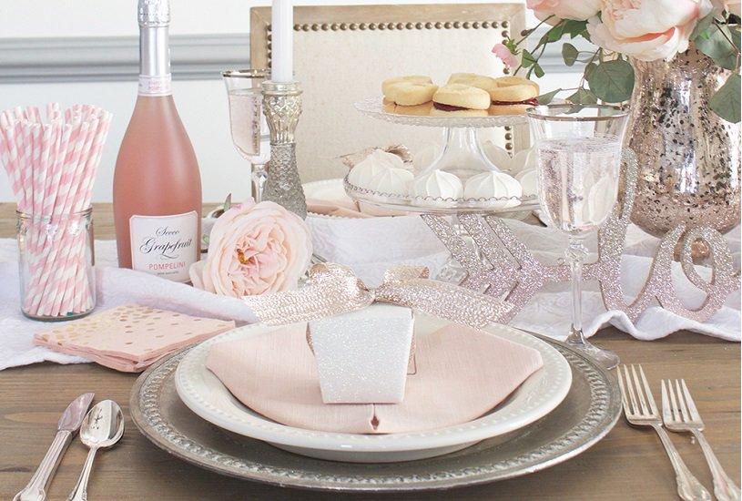 Mesa de jantar romântico