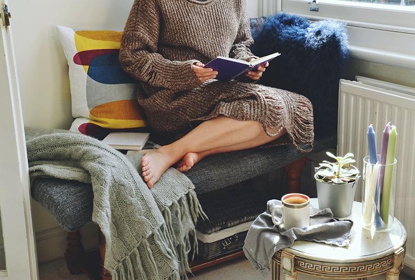 Tenha um cantinho de leitura em casa