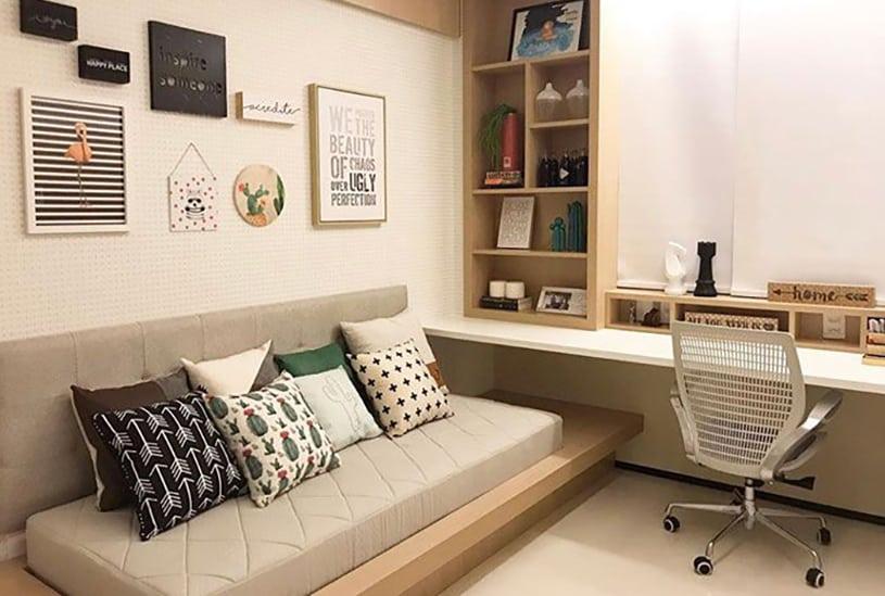 quarto de hóspedes e escritório