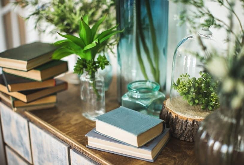 Como combinar livros e decoração