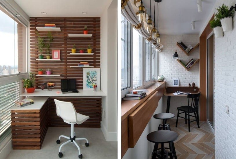 Sua varanda como home office
