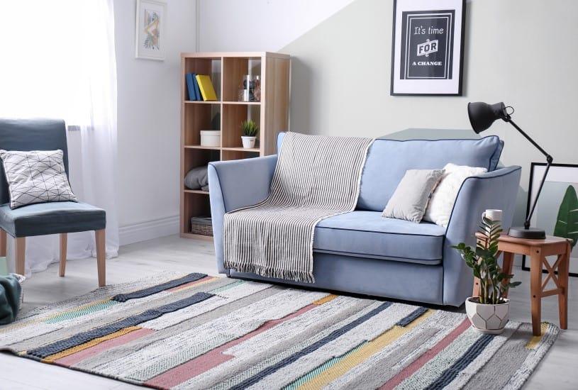 Decorar apartamento alugado com tapetes